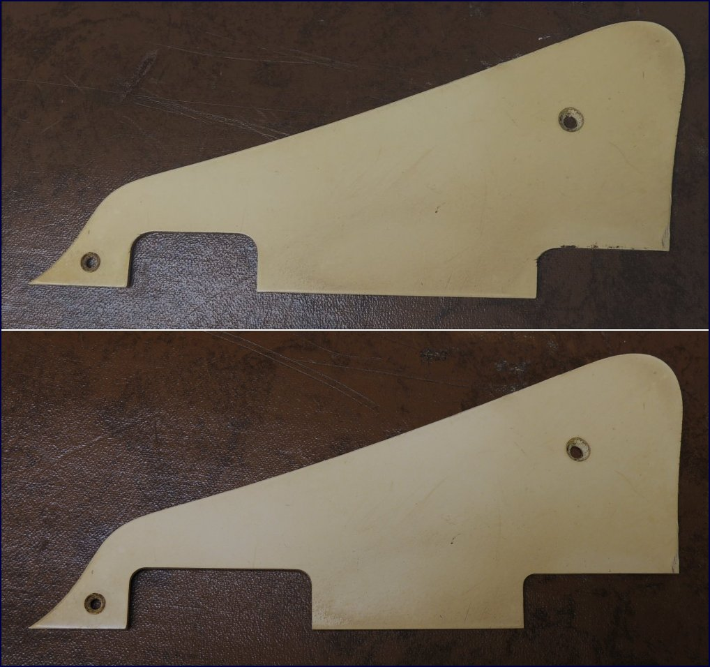 Mojoaxe Custom Guitar Parts Gibson Les Paul Classic Toggle Switch Wiring Replica Pickguard And Control Cover Made For The Restoration Of A 1960 Special